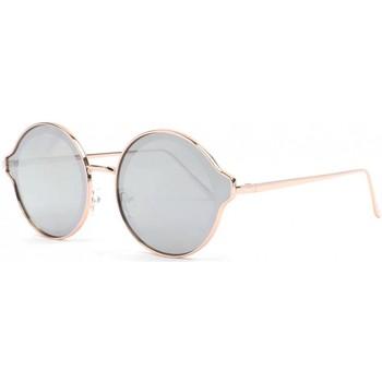 Montres & Bijoux Lunettes de soleil Eye Wear Lunettes soleil miroir argent rondes fashion dorees Gaxy Gris
