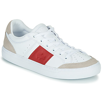 Chaussures Femme Baskets basses Lacoste COURTLINE 319 1 US CFA Blanc / Rouge