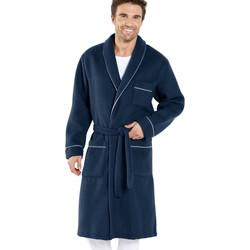 Vêtements Homme Pyjamas / Chemises de nuit Honcelac Robe de chambre maille courtelle unibleu