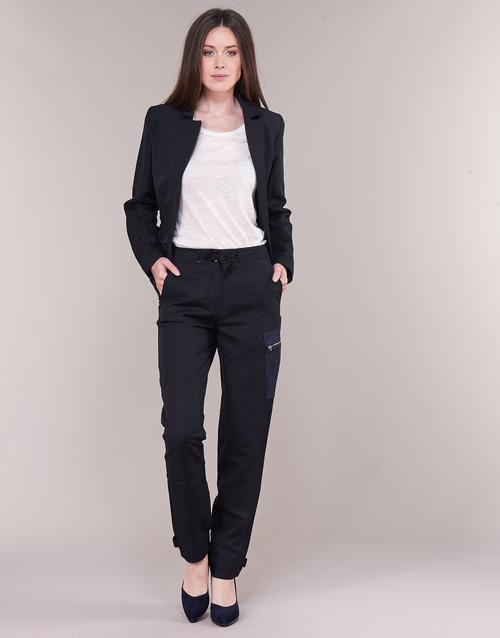Vêtements Femme Pantalons cargo G-Star Raw FELDSPAR HIGH STRAIGHT CARGO Marine