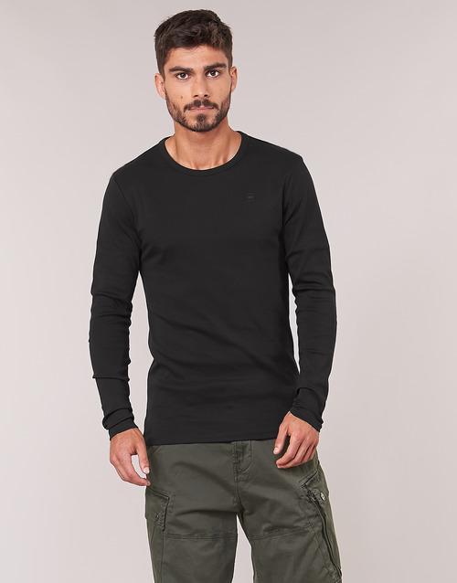 Vêtements Homme T-shirts manches longues G-Star Raw BASE TEE Noir