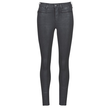 Vêtements Femme Jeans skinny G-Star Raw ASHTIX ZIP HIGH SUPER SKINNY ANKLE WMN Noir