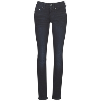 Vêtements Femme Jeans droit G-Star Raw MIDGE MID STRAIGHT WMN Bleu Dark Aged