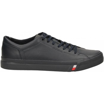 Chaussures Homme Baskets basses Tommy Hilfiger CORPORATE LEATHER SNEAKER 403-midnight