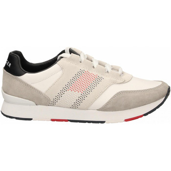 Chaussures Homme Running / trail Tommy Hilfiger CORPORATE MATERIAL MIX RUNNER 100-white-bianco