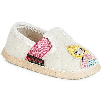 Chaussures Fille Chaussons Giesswein THURNAU Beige