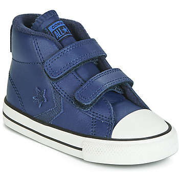 Chaussures Enfant Baskets montantes Converse STAR PLAYER 2V ASTEROID LEATHER HI Bleu