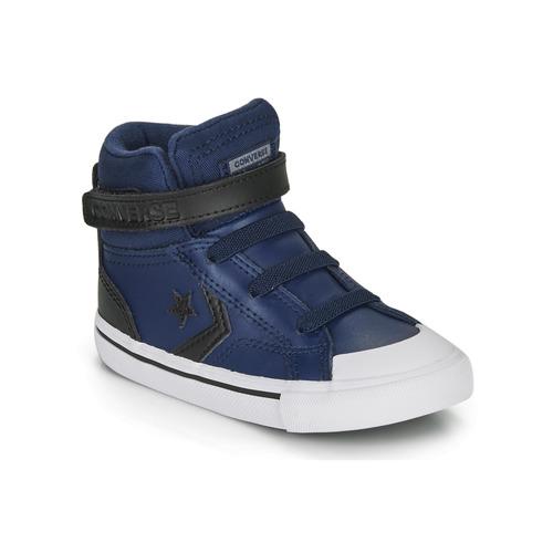 Chaussures Enfant Baskets montantes Converse PRO BLAZE STRAP MARTIAN LEATHER HI Bleu / Noir
