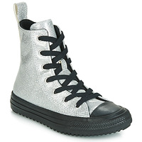 Chaussures Fille Baskets montantes Converse CHUCK TAYLOR ALL STAR BOOT COATED GLITTER  HI Argenté