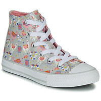 Chaussures Fille Baskets montantes Converse CHUCK TAYLOR ALL STAR LLAMA HI Gris / Multicolor
