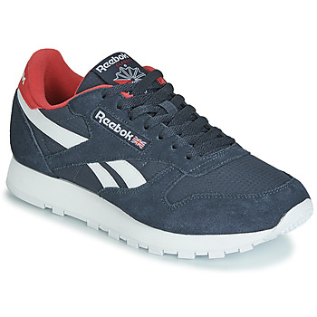 Chaussures Baskets basses Reebok Classic CL LEATHER MU Marine / rouge