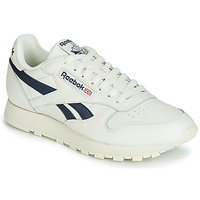 Chaussures Baskets basses Reebok Classic CL LEATHER MU Blanc / noir