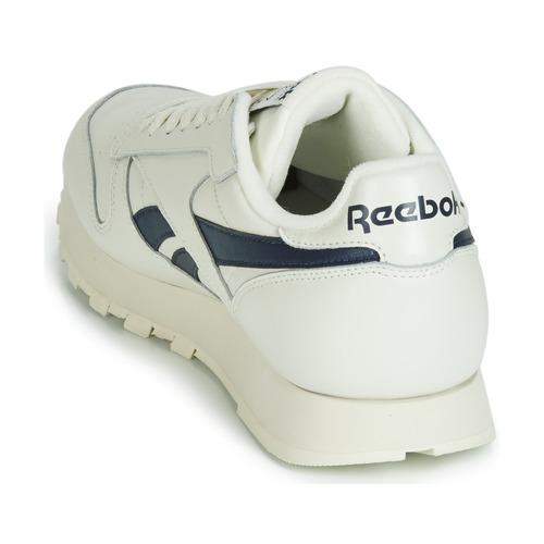 Classic Basses BlancNoir Baskets Reebok Leather Cl Chaussures Mu 3R45LAjq