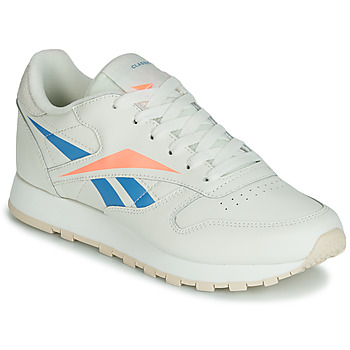 Chaussures Femme Baskets basses Reebok Classic CL LTHR Beige / bleu / orange