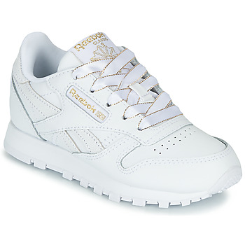 Chaussures Fille Baskets basses Reebok Classic CLASSIC LEATHER C Blanc / glitter