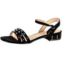 Chaussures Femme Sandales et Nu-pieds The Divine Factory Sandale Femme Noir