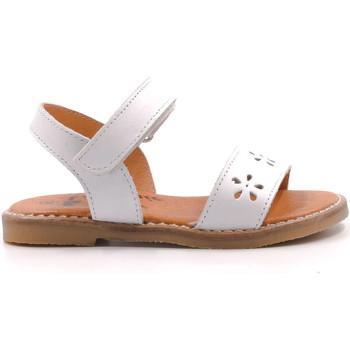 Chaussures Fille Sandales et Nu-pieds Boni & Sidonie Sandales en cuir à scratch - DAISY Blanche
