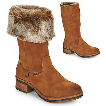 Chaussures Femme Bottes ville Rieker 96854-26 Camel