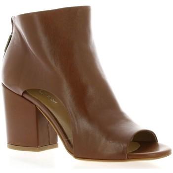 Chaussures Femme Bottines Nuova Riviera Boots cuir Cognac