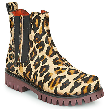 Chaussures Femme Boots Papucei PORTO ANIMAL PRINT Léopard
