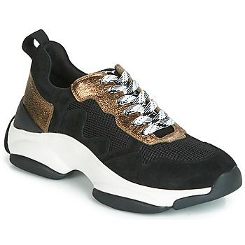 Chaussures Femme Baskets basses Mam'Zelle HELIUM Noir / Bronze