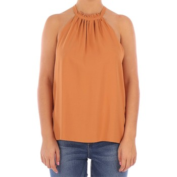 Vêtements Femme Tops / Blouses Manila Grace TOP SCOLLO AMERICANA noisetier