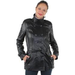 Vêtements Femme Trenchs Pallas Cuir Veste  sélection en cuir ref_yag33588-noir noir