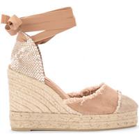 Chaussures Femme Espadrilles Castaner Sandale à semelle compensée Catalina en toile et jute Beige
