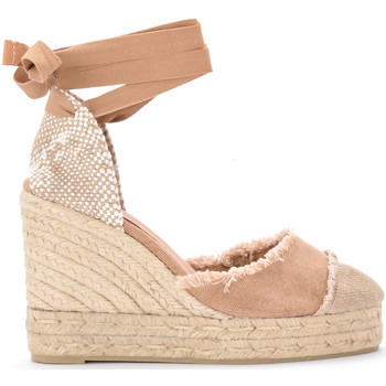 Chaussures Femme Espadrilles Castaner Sandale à semelle compensée Catalina en toile et jute Naturel