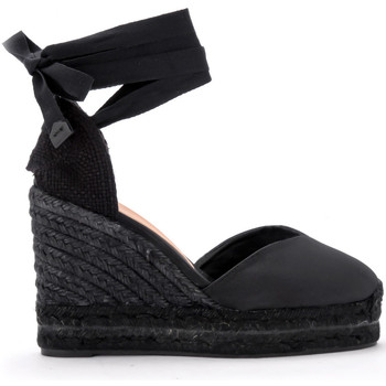 Chaussures Femme Espadrilles Castaner Sandale à semelle compensée Chiara en canvas noir Noir