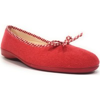 Chaussures Femme Chaussons Fargeot ELISA Rouge