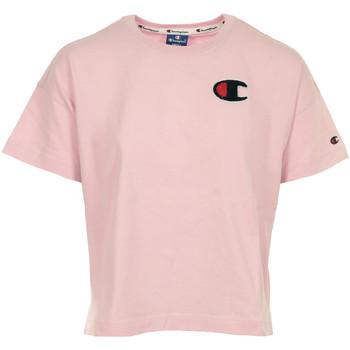 Vêtements Femme T-shirts manches courtes Champion Crewneck T-shirt Cropped rose
