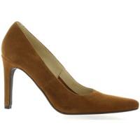 Chaussures Femme Escarpins Vidi Studio Nu pieds cuir velours Cognac