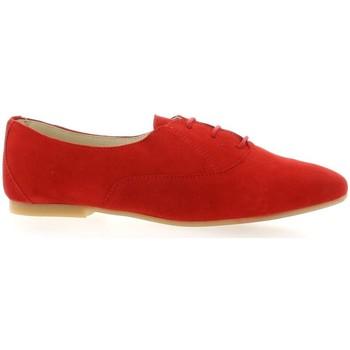 Chaussures Femme Derbies So Send Derby cuir velours rouge