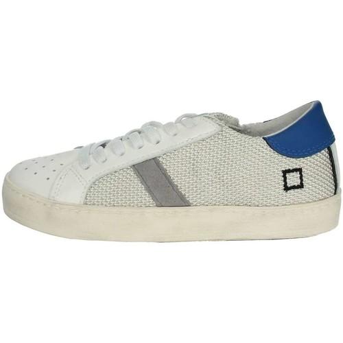 Chaussures Garçon Baskets basses Date HILL LOW-T Blanc/Bleu clair