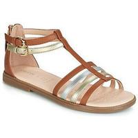 Chaussures Fille Sandales et Nu-pieds Geox sandale-js karly gd Marron
