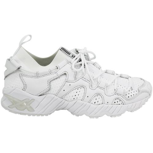 Chaussures Homme Baskets basses Asics Baskets basses Cuir suédé GEL-MAI KNIT blanc