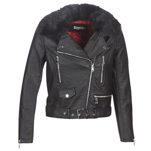 Vêtements Femme Vestes en cuir / synthétiques Molly Bracken HA006A21 Noir