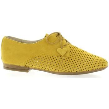 Chaussures Femme Derbies So Send Derby cuir velours Jaune