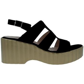 Chaussures Femme Sandales et Nu-pieds Wonders F-6705 Sandalias Con Plataforma de Mujer Noir