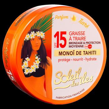 Beauté Femme Protections solaires Soleil Des Îles Graisse à traire protection solaire SPF 15 - 150ml Transparent