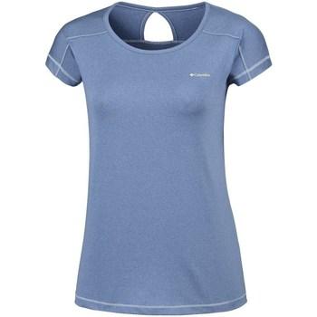 Vêtements Femme T-shirts manches courtes Columbia Peak TO Point bleu