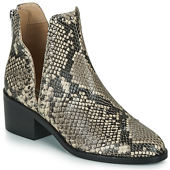 Chaussures Femme Boots Steve Madden CONSPIRE Beige / python
