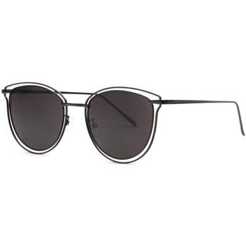 Montres & Bijoux Femme Lunettes de soleil Eye Wear Lunettes de soleil Papillon Noires Chics et Legeres Luxe Entle Noir