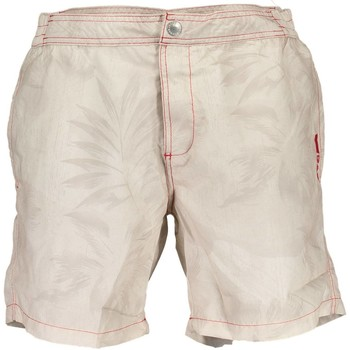 Vêtements Maillots / Shorts de bain Gas GABM01TROPIC AB20 BEIGE BLANC TROPICAL