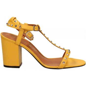 Chaussures Femme Sandales et Nu-pieds Via Roma 15 SANDALO CINTURINI PIRAMIDI giallo