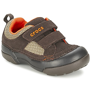 Chaussures Garçon Baskets basses Crocs DAWSON HOOK & LOOP Marron