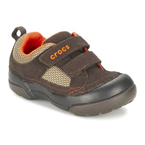 Chaussures Garçon Baskets basses Crocs DAWSON HOOK & LOOP Marron