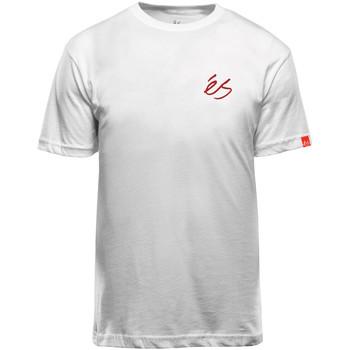 Vêtements T-shirts manches courtes Es SCRIPT TEE WHITE