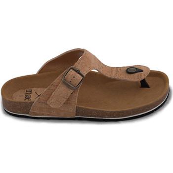 Chaussures Femme Tongs Nae Vegan Shoes Kos Cork Marron